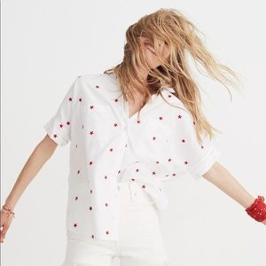 Madewell Star Embroidered Courier Shirt